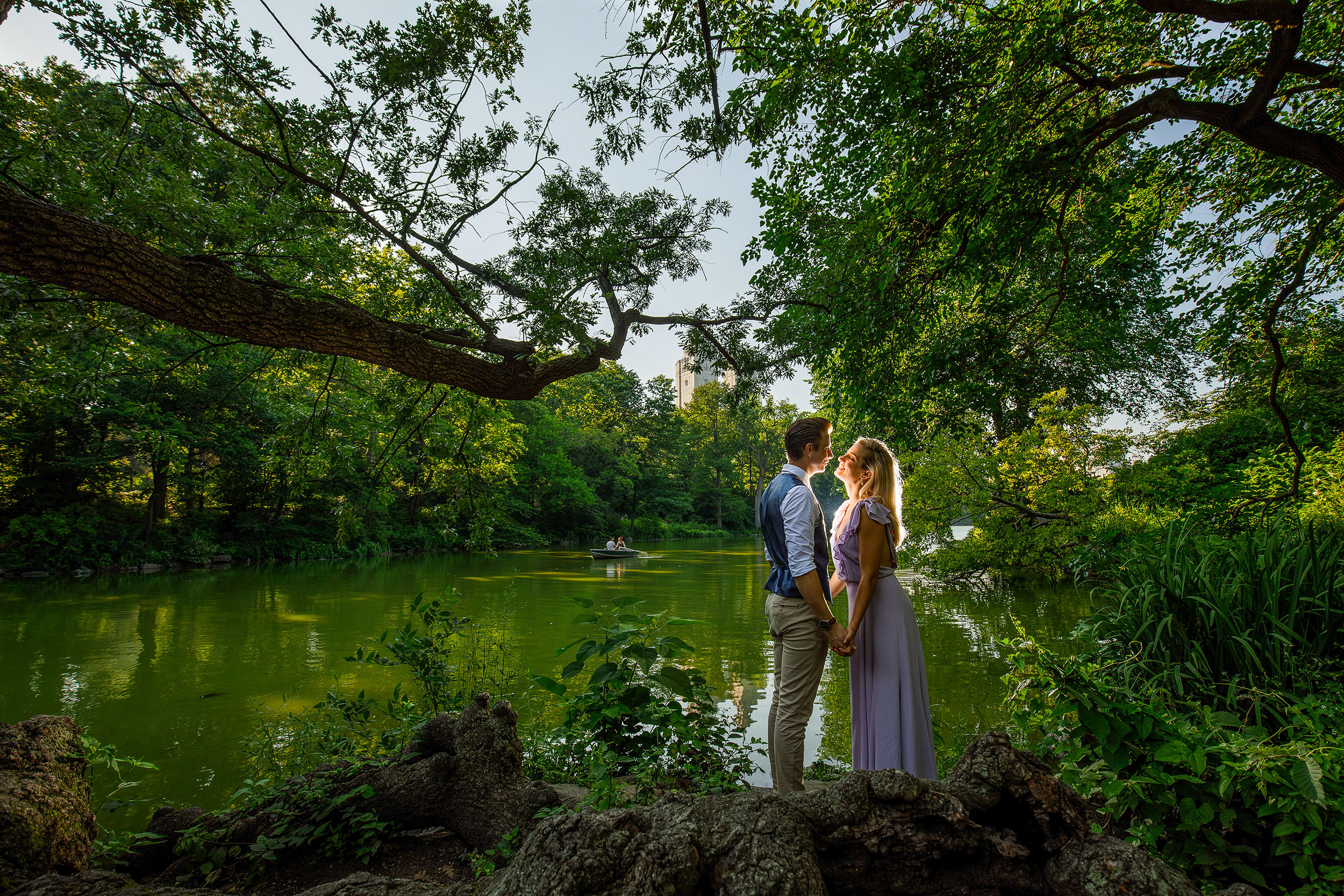 Central Park Engagement Session The Lake