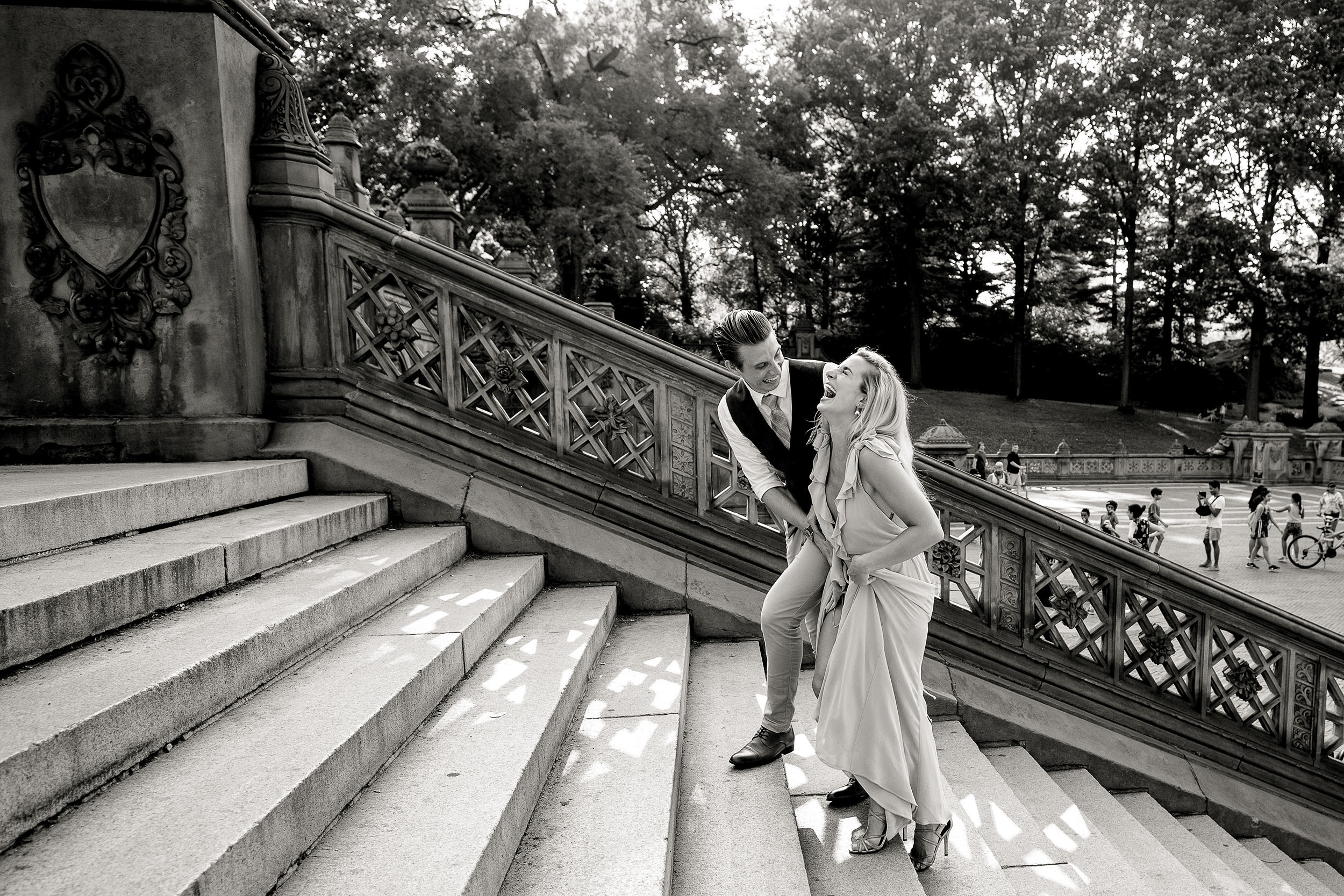 Central Park Engagement Session Bethesda Fountain