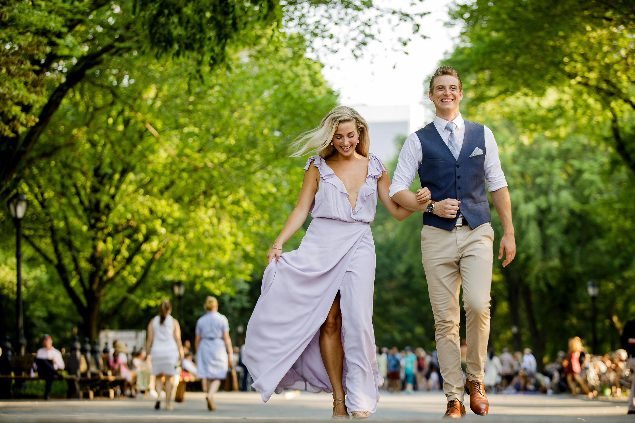 Central Park Engagement Session The Mall