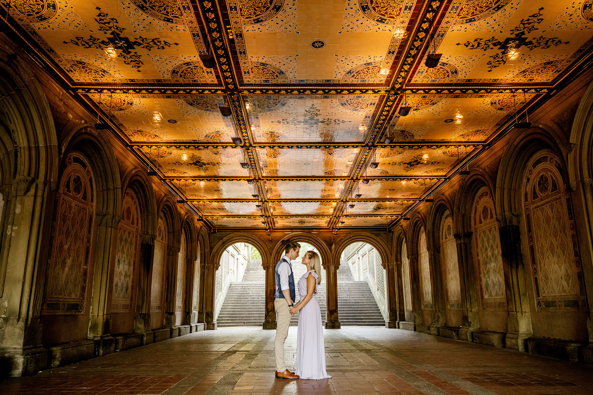 Milton Tiles at Bethesda Terrace Engagement Session